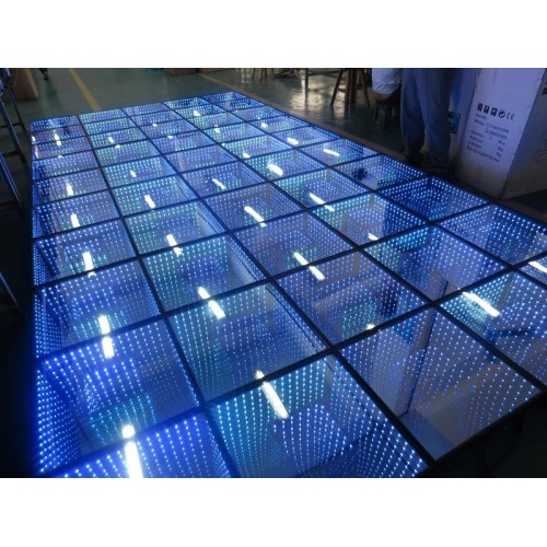 3D LED Mirror Dance Floor(Time Tunel Effect)